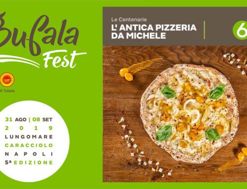 """L'Antica Pizzeria da Michele in team con """"Le Centenarie"""": al Bufala Fest con una nuova pizza che saluta l'estate"""